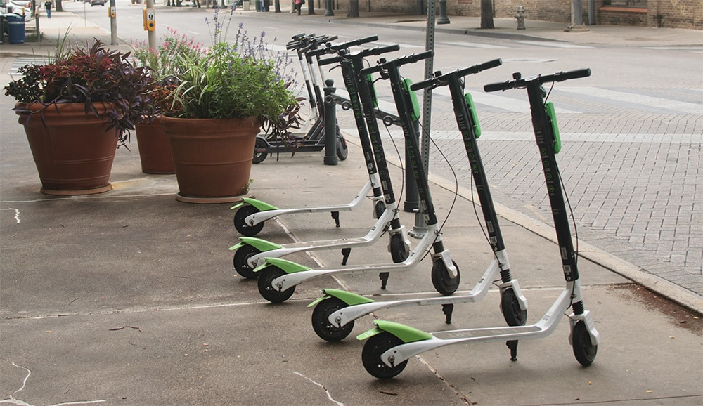 Electic Scooters in Dallas | Thompson Law | 1800LionLaw